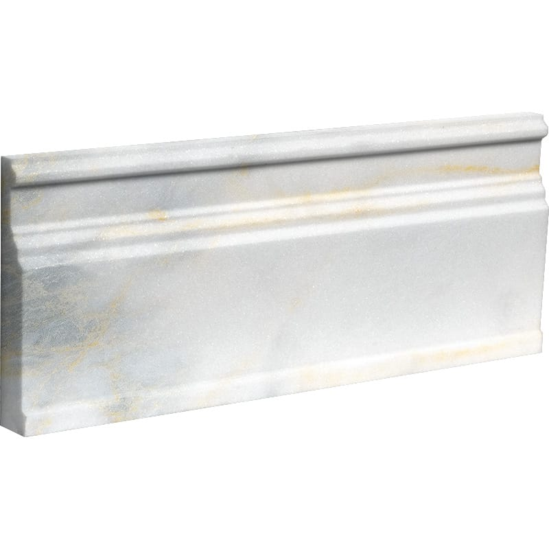 Calacatta Fusion Polished Modern Base Marble Moldings 12×30,5