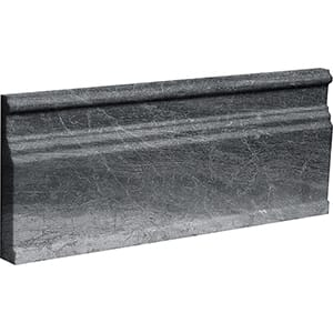 Haisa Black Polished Modern Base Marble Moldings 12x30,5