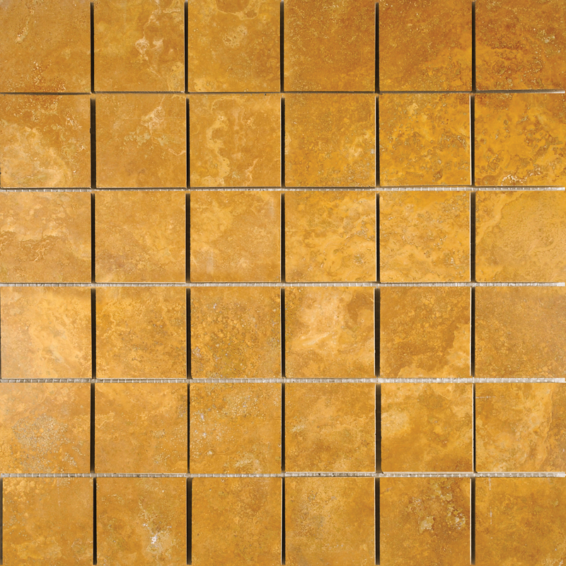 Golden Sienna Honed&filled 30,5x30,5 2x2 Travertine Mosaics