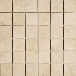 Ivory Honed&filled 5x5 Travertine Mosaics 30,5x30,5