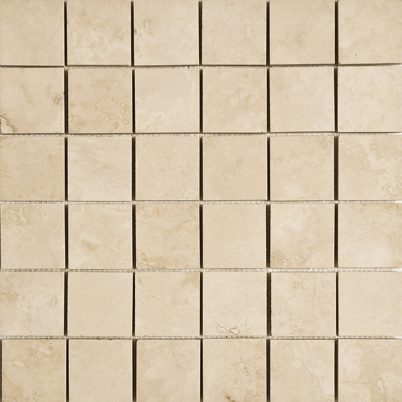 Ivory Honed&filled 30,5x30,5 2x2 Travertine Mosaics