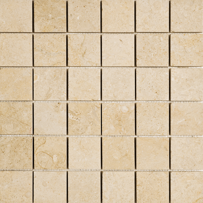 Seashell Honed 5×5 Limestone Mosaics 30,5×30,5