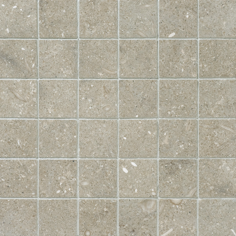 Olive Green Honed 5x5 Limestone Mosaics 30,5x30,5