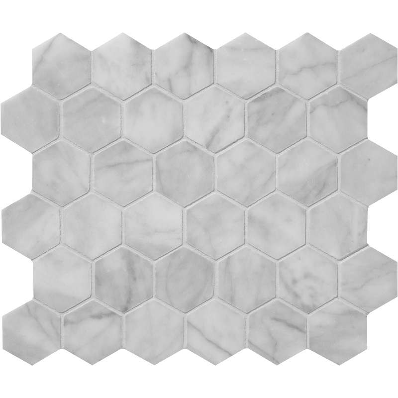 Avenza Honed 26,5x31 Hexagon Marble Mosaics