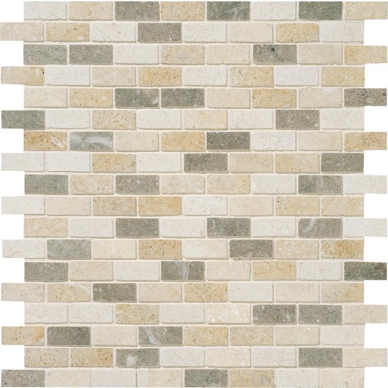 Lizola Honed 30,5x30,5 5/8x1 1/2 Limestone Mosaics