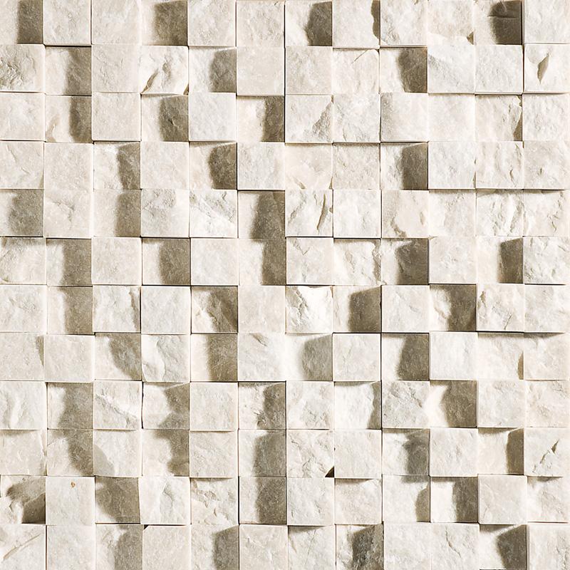Desert Cream Rock Face 32x32 1x1 Marble Mosaics