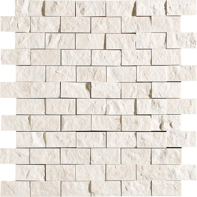 Desert Cream Rock Face 32x32 1x2 Marble Mosaics