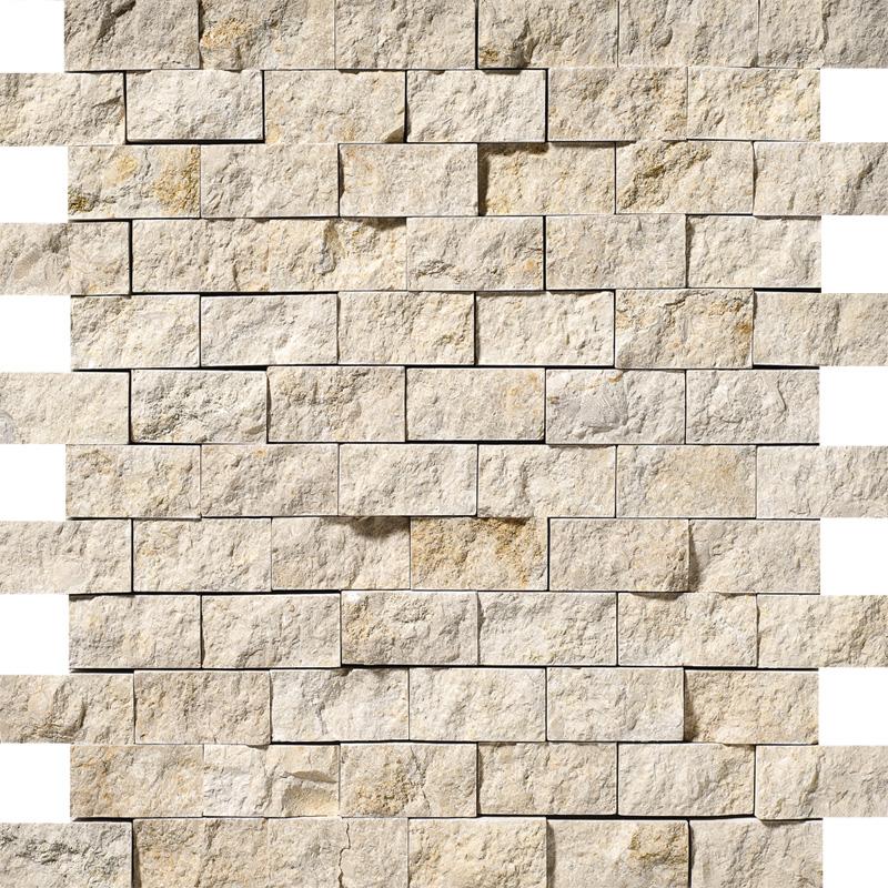 Seashell Rock Face 2,5×5 Limestone Mosaics 32×32