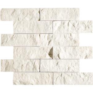 Desert Cream Rock Face 5x15,2 Marble Mosaics 30,5x30,5
