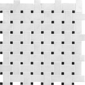 Avalon Polished Basket Weave Marble Mosaics 30,5x30,5