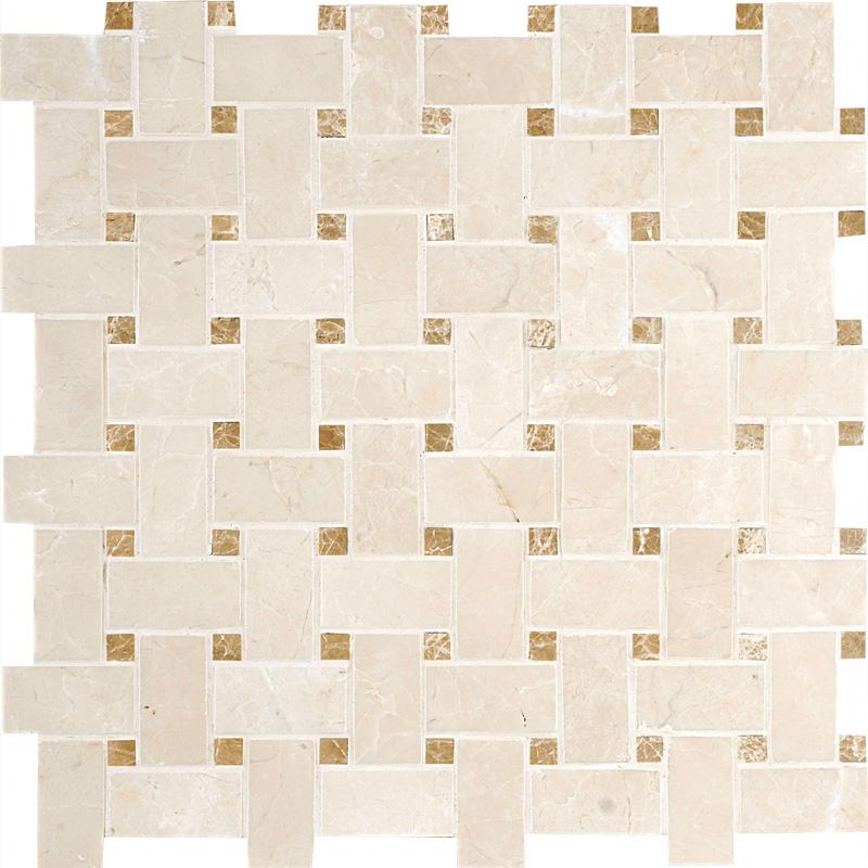 Delano&paradise Honed 31x31 Basket Weave Marble Mosaics