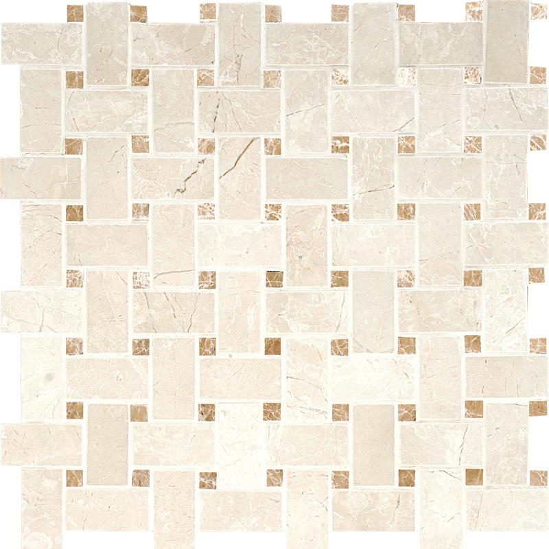 Princeton&paradise Polished 31x31 Basket Weave Marble Mosaics