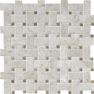 Silver Clouds&tobacco Polished Basket Weave Marble Mosaics 30,5x30,5