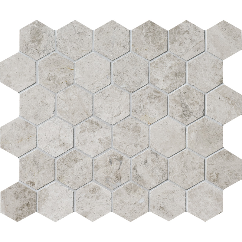 Silver Clouds Polished 26,5x31 Hexagon Marble Mosaics