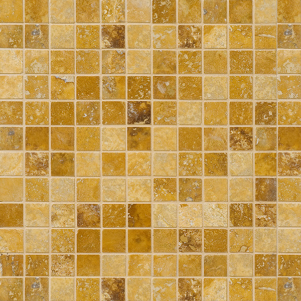 Golden Sienna Honed&filled 30,5x30,5 1x1 Travertine Mosaics