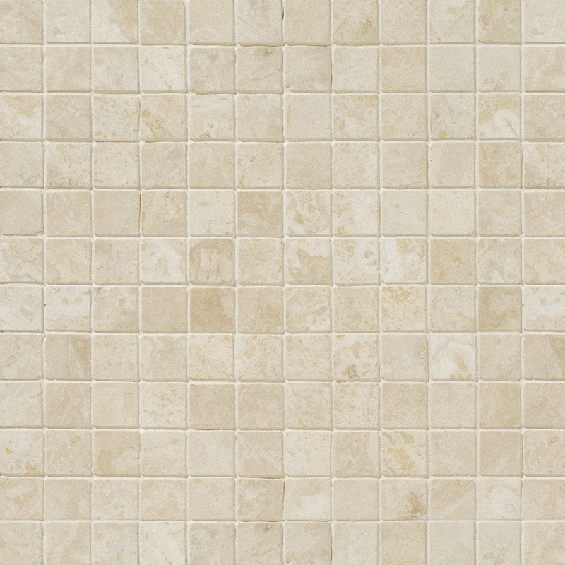 Ivory Honed&filled 2,3x2,3 Travertine Mosaics 30,5x30,5