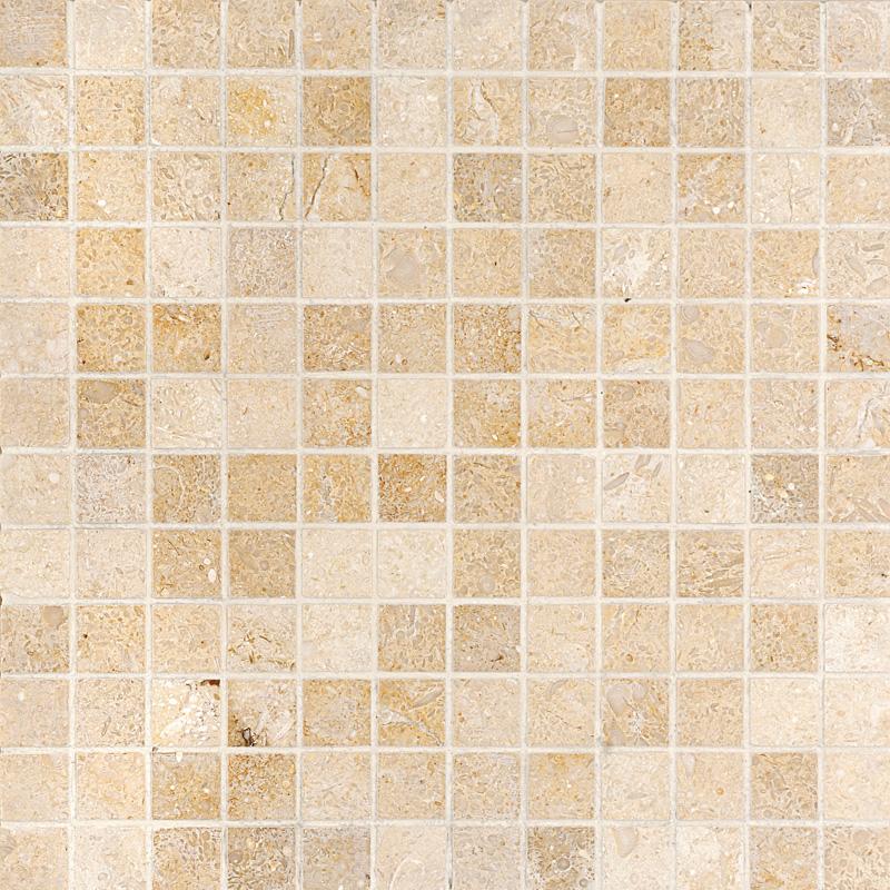 Seashell Honed 1×1 Limestone Mosaics 30,5×30,5