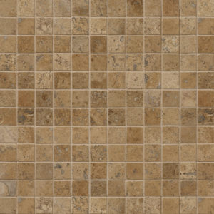 Walnut Dark Honed&filled 2,3x2,3 Travertine Mosaics 30,5x30,5