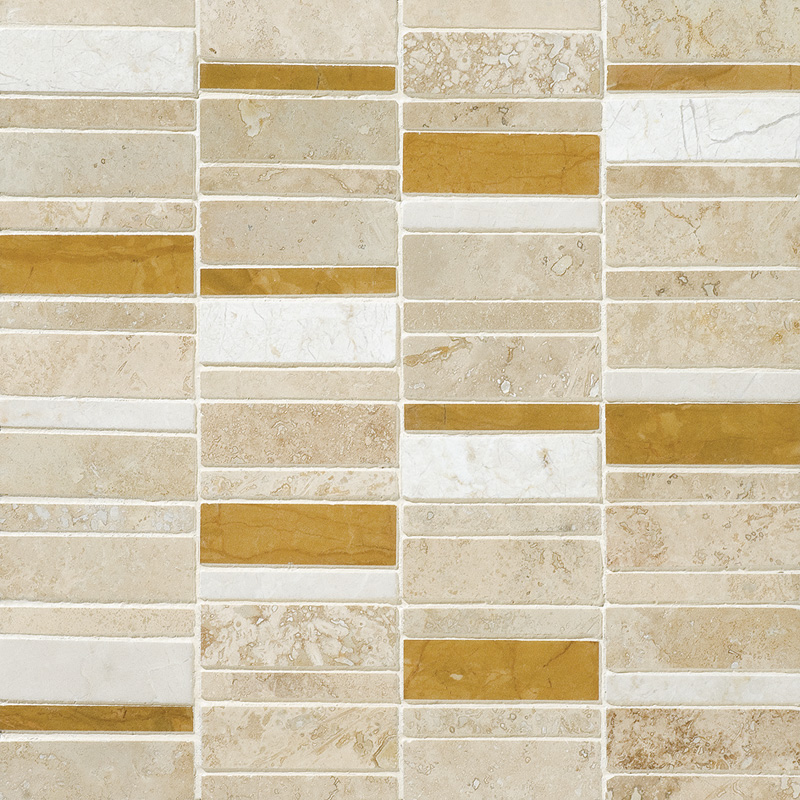Aspen Dawn Honed&filled 30,5x30,5 Broken Trail Travertine Mosaics