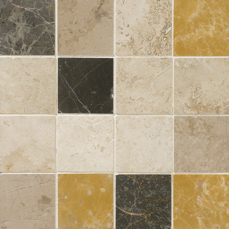Aspen Dusk Honed&filled 30,5x30,5 3x3 Travertine Mosaics