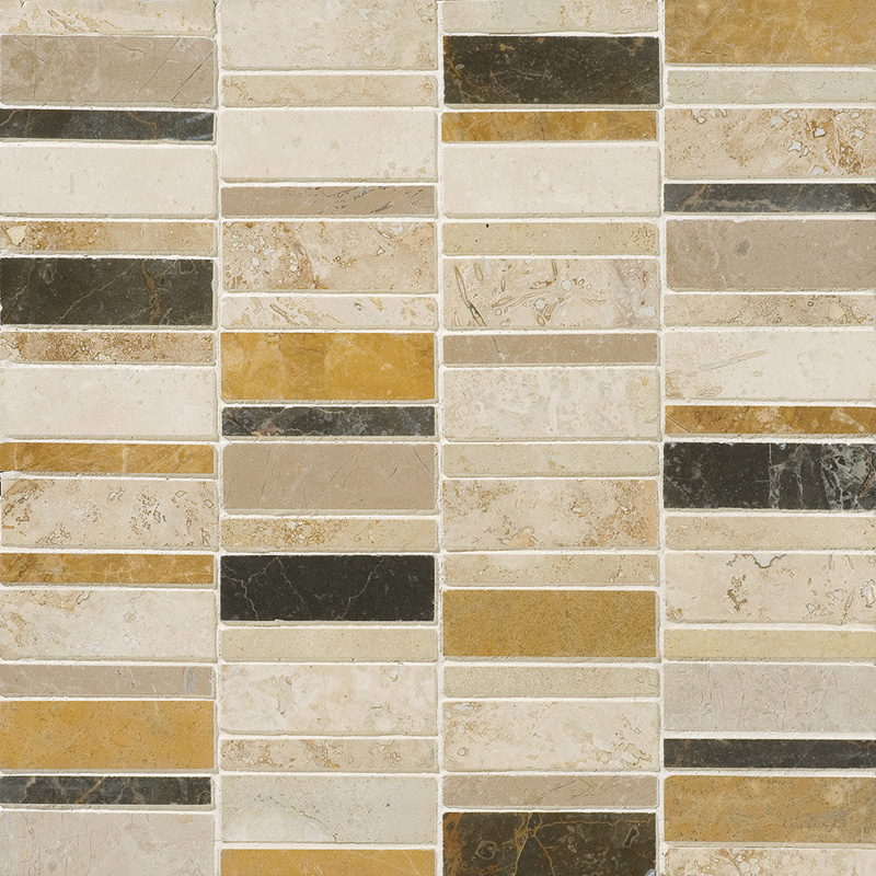 Aspen Dusk Honed&filled 30,5x30,5 Broken Trail Travertine Mosaics