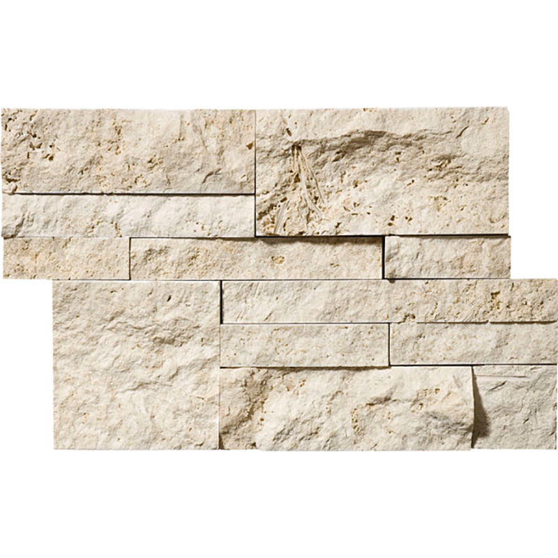 Ivory Split Face 20,5x30,5 Taco Travertine Mosaics