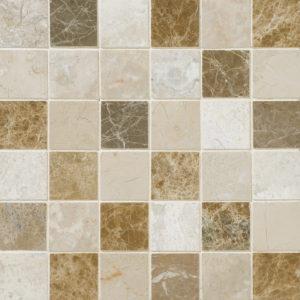 Milano Blend Polished 2x2 Marble Mosaics 30,5x30,5