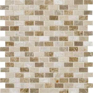 Milano Blend Polished 5/8x1 1/4 Marble Mosaics 30,5x30,5