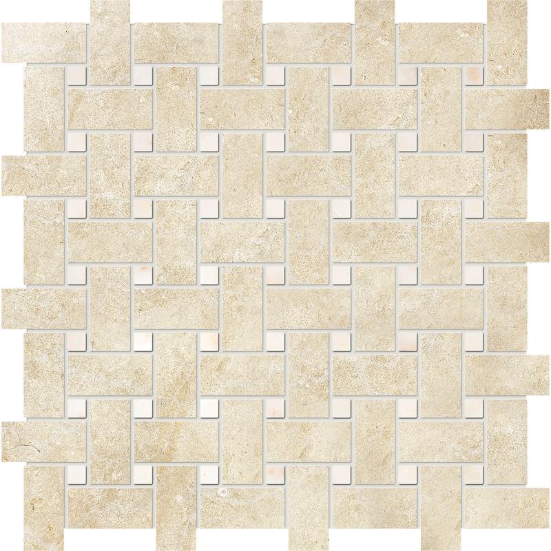 Casablanca&afyon Sugar Honed Basket Weave Limestone Mosaics 30,5×30,5