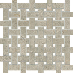Olive Green&afyon Sugar Honed Basket Weave Limestone Mosaics 30,5x30,5