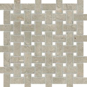 Olive Green&afyon Sugar Honed Basket Weave Limestone Mosaics 30,5x30,5