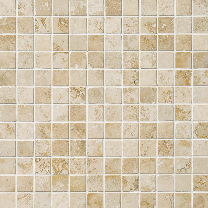 Canyon Honed&filled 30,5x30,5 2,3x2,3 Travertine Mosaics
