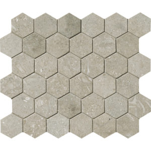 Olive Green Honed Hexagon Limestone Mosaics 26,5x31