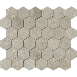 Olive Green Honed Hexagon Limestone Mosaics 26,5x31