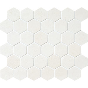 Champagne Honed Hexagon Limestone Mosaics 26,5x31