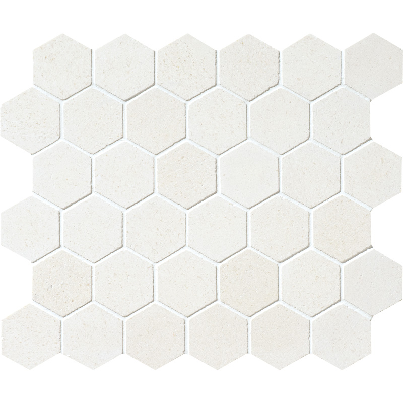 Champagne Honed 26,5x31 Hexagon Limestone Mosaics