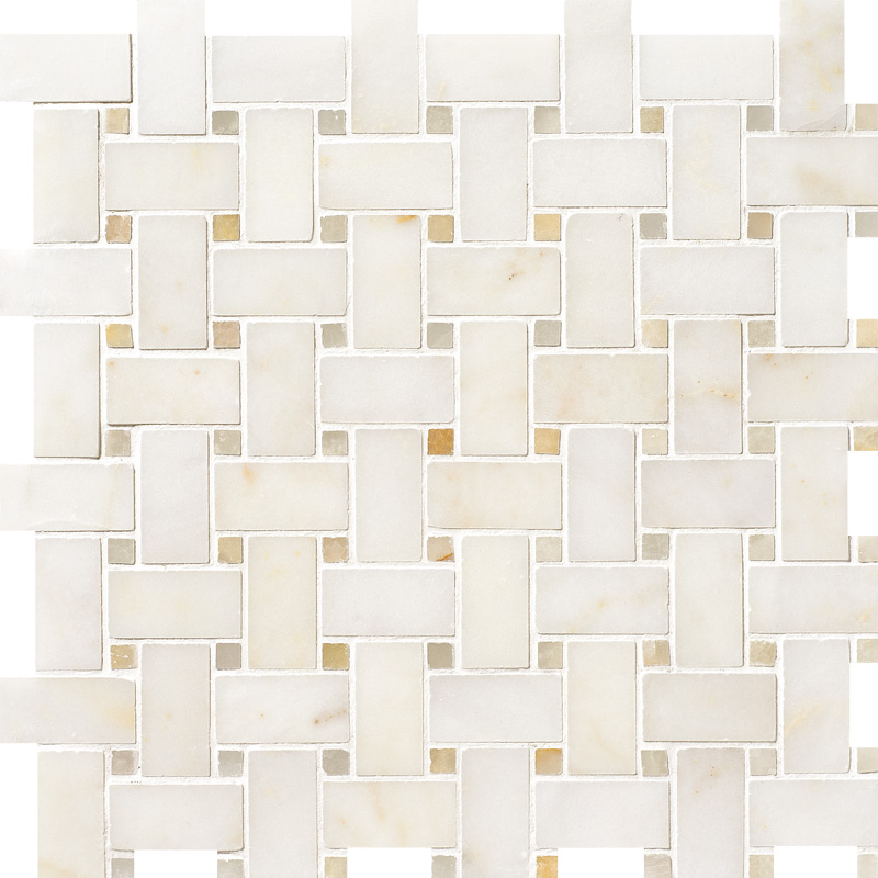 Afyon Sugar&honey Onyx Polished Basket Weave Marble Mosaics 30,5×30,5