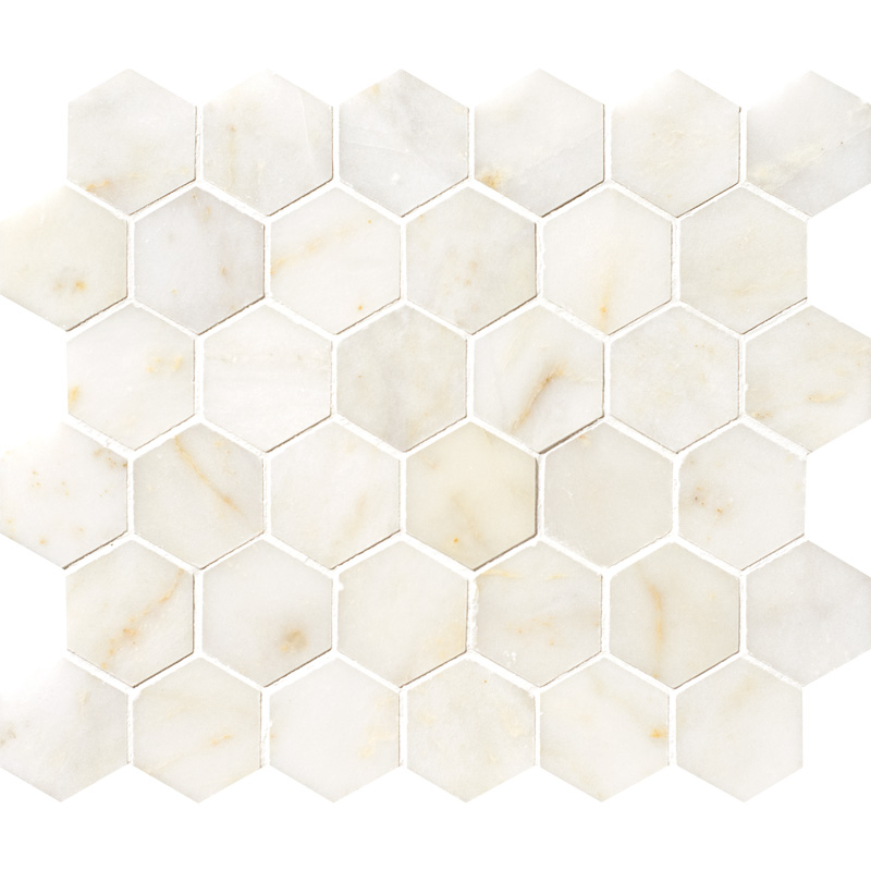 Afyon Sugar Polished 26,5x31 Hexagon Marble Mosaics