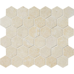 Casablanca Honed Hexagon Limestone Mosaics 26,5x31