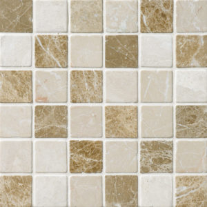 Milano Blend Tumbled 5x5 Marble Mosaics 30,5x30,5
