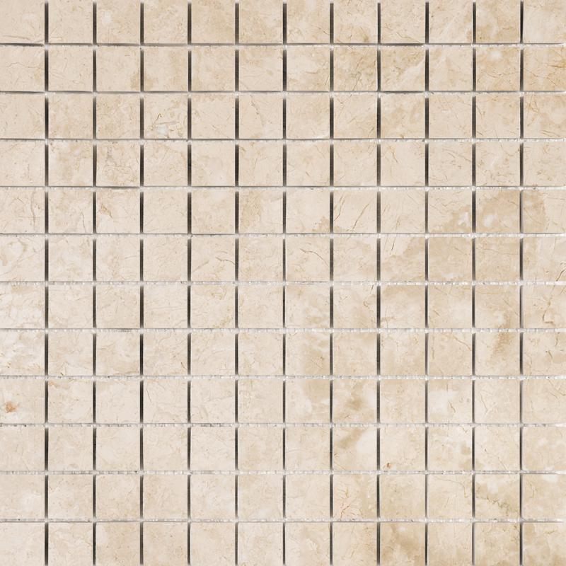 Crema Bella Honed 2,3×2,3 Marble Mosaics 30,5×30,5