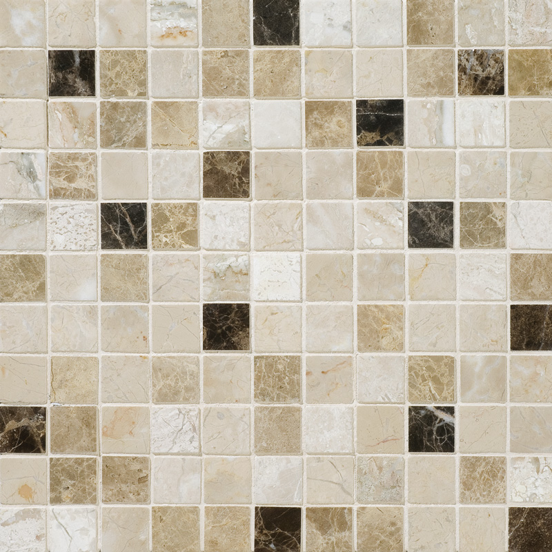 Milano Dark Blend Polished 2,3x2,3 Marble Mosaics 30,5x30,5