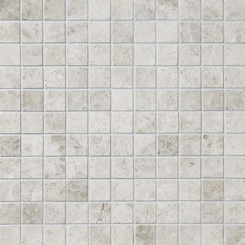 Silver Clouds Polished 2,3×2,3 Marble Mosaics 30,5×30,5