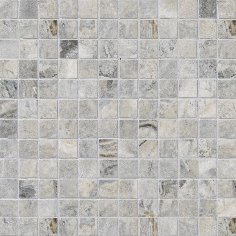 Silverado Honed&filled 2,3×2,3 Travertine Mosaics 30,5×30,5