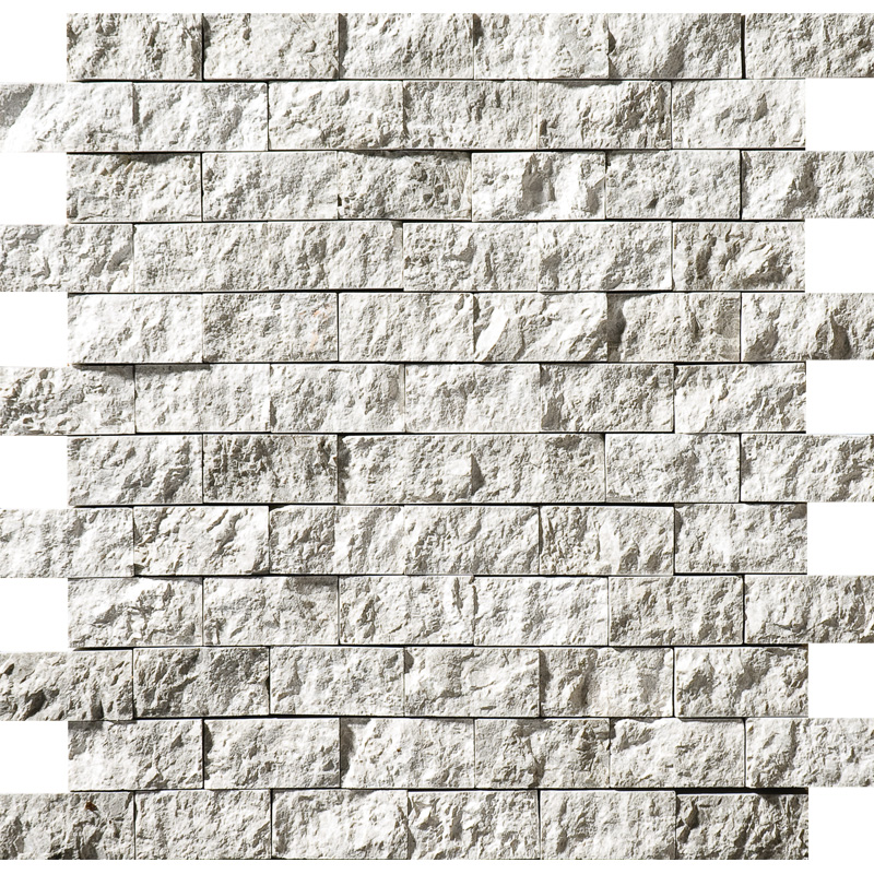 Silver Shadow Rock Face 32x32 1x2 Marble Mosaics