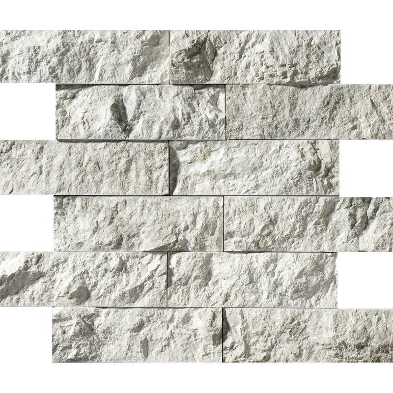 Silver Shadow Rock Face 30,5x30,5 2x6 Marble Mosaics