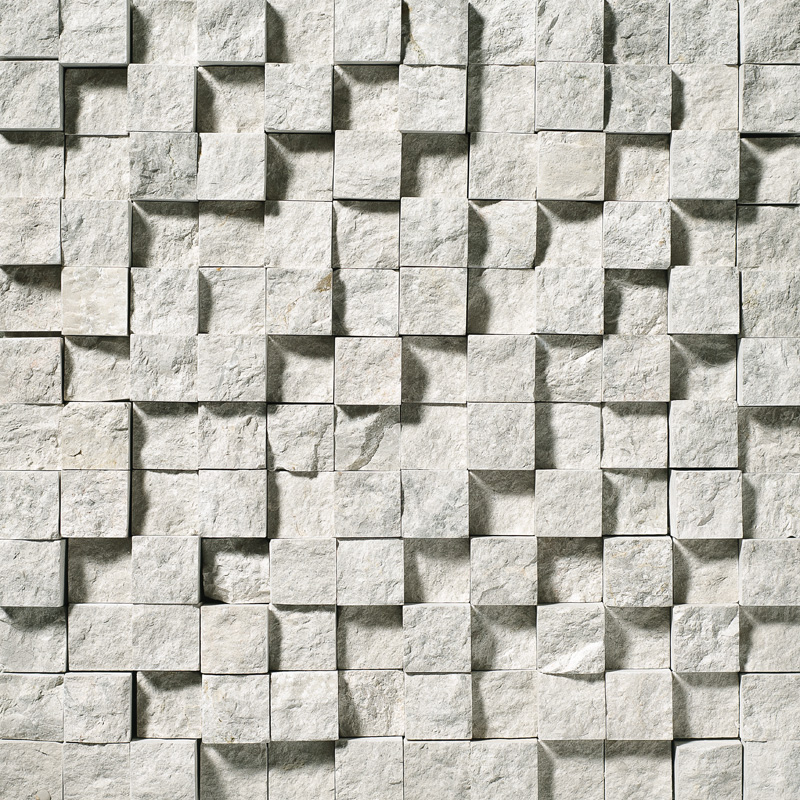 Silver Shadow Rock Face 30,5x30,5 1x1 Marble Mosaics