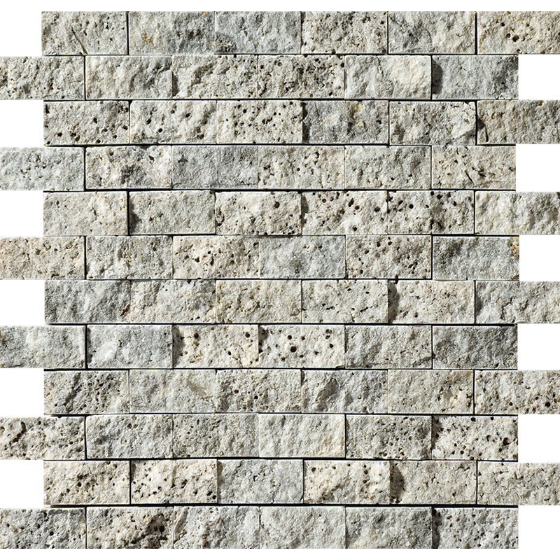 Silverado Rock Face 30x31 1x2 Travertine Mosaics