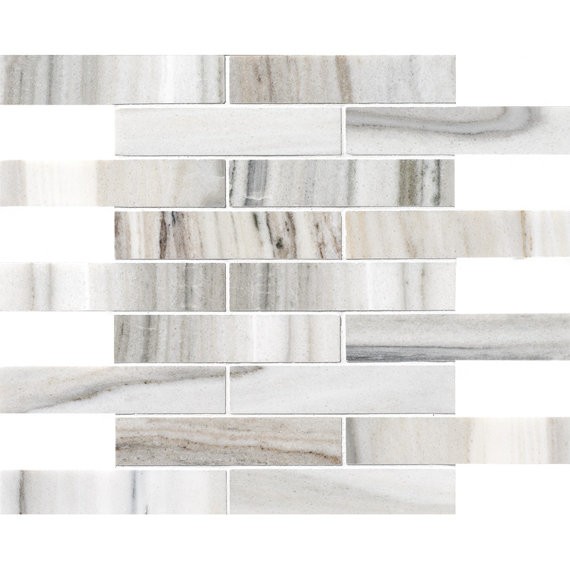 Skyline Polished 30,5x30,5 1 1/4x6 Marble Mosaics