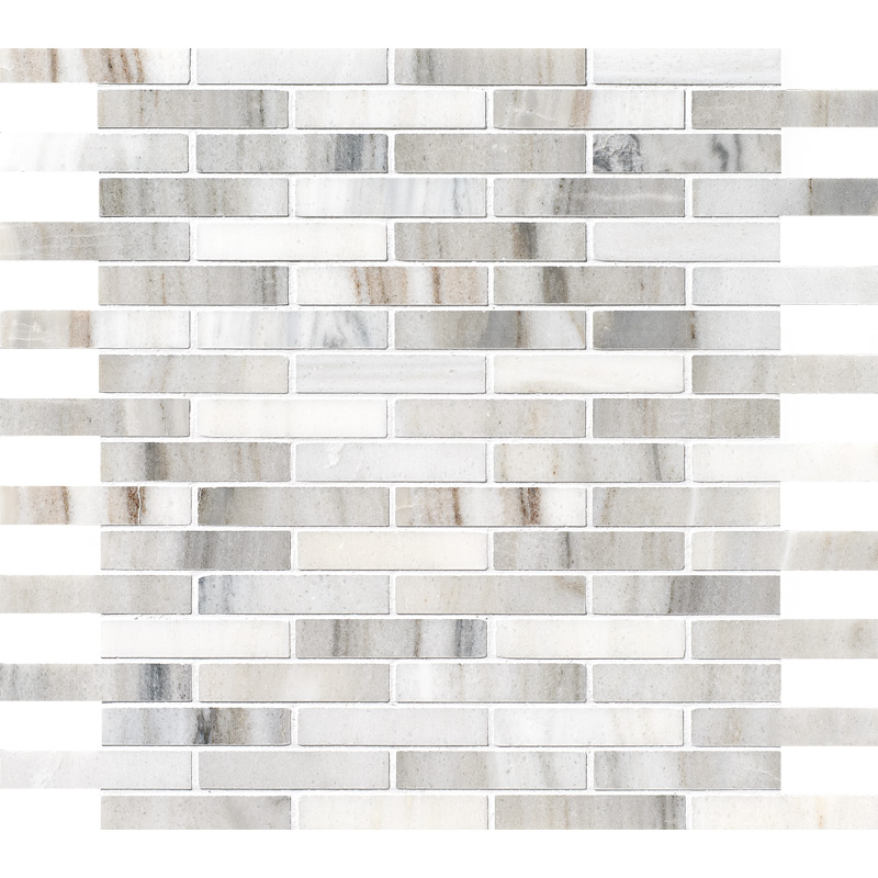 Skyline Polished 30,5x30,5 5/8x3 Marble Mosaics